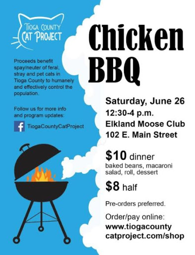 6-26 Chicken BBQ fundraiser in Elkland