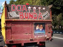 Gambar DP Bbm Tulisan Belakang truk doa bunda