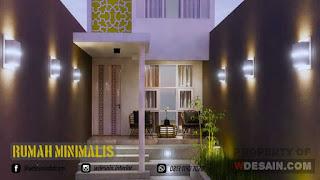 Desain Taman Rumah Minimalis Ukuran 4x10 Meter 2 Lantai