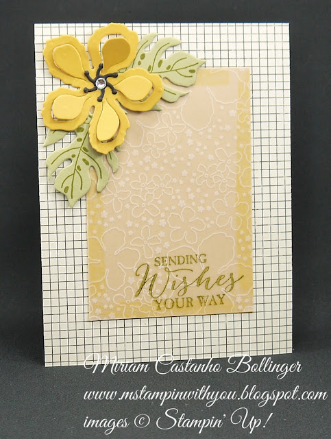 Miriam Castanho-Bollinger, #mstampinwithyou,s tampin up, demonstrator, mm, get well, botanical gardens dsp vellum, botanical blooms bundle, butterfly basics stamp set, big shot, botanical builder framelits, flashback dsp, su