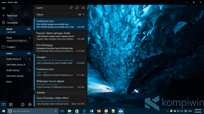 aplikasi mail di windows 10