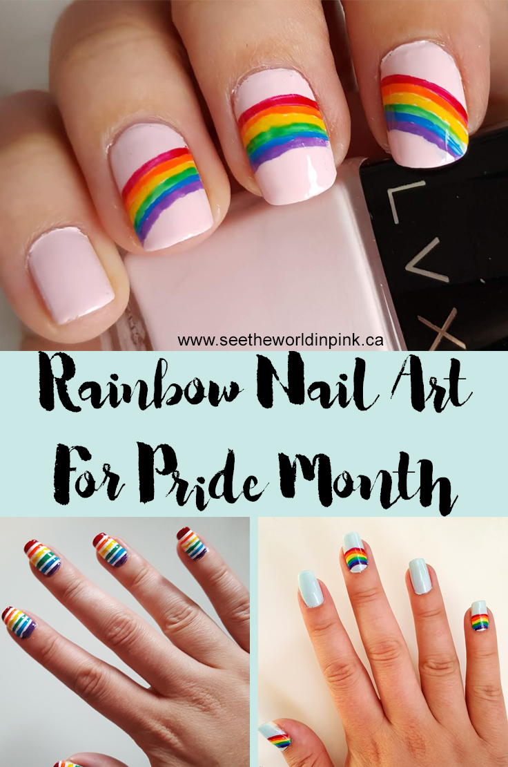Manicure Monday - 3 Rainbow Nail Art Looks for Pride Month