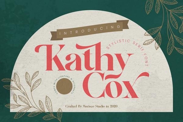 Kathy Cox Stylish Serif Font