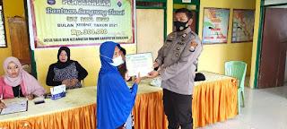 Bhabinkamtibmas Polsek Maiwa Laksanakan PAM Penyaluran BLT Dana Desa Tahap IV