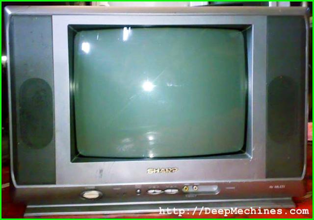 """Cara Mengatasi Kerusakan Protek TV Sharp 14"""" 14A20MS"""