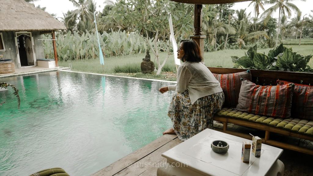 hotel murah ada kolam renang dan view sawah