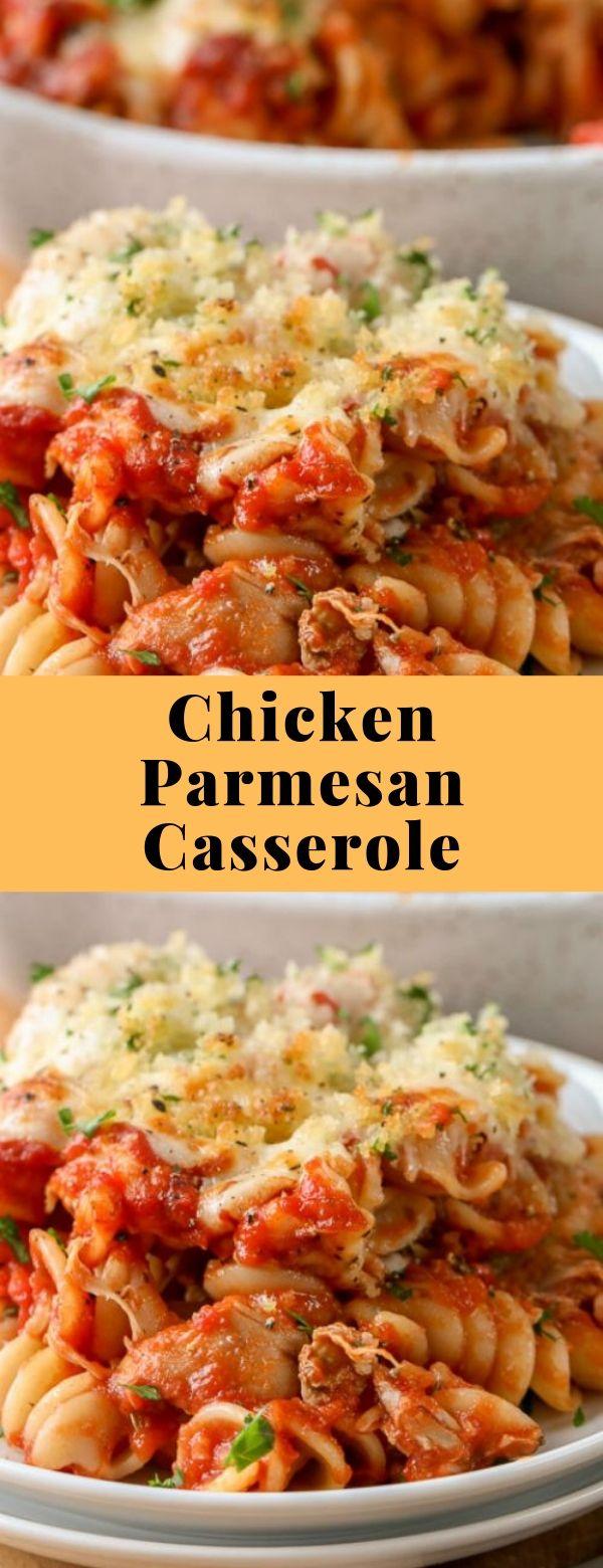 Chicken Parmesan Casserole #chicken #parmesan #casserole