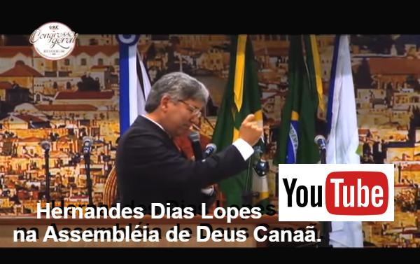 Rv. Hernandes Dias Lopes pregando na Assembleia de Deus