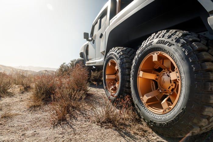 Kevlar Protected Rezvani Hercules 6X6 Military Edition Truck