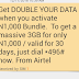Airtel Double Data Offer: Get 3GB for N1000, 7GB for N2000 And 18GB for N4000