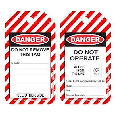 do not operate tag for loto