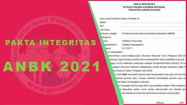 Pakta Integritas ANBK 2021