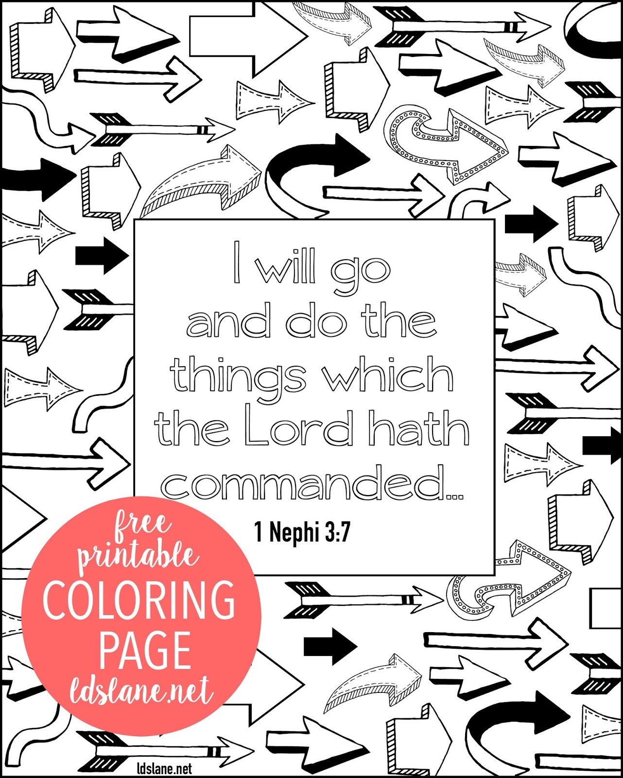 scripture coloring page i will go and do