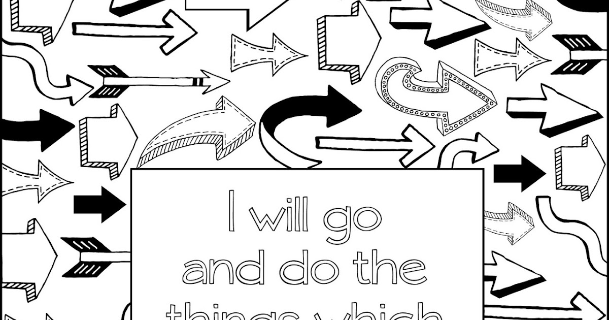 Scripture Coloring Page: I Will Go and Do