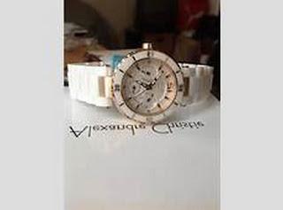 jam tangan alexandre christie wanita tali keramik