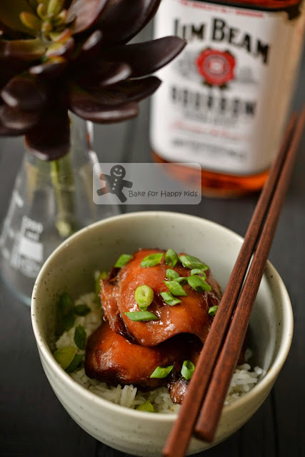 sticky brown sugar bourbon chicken