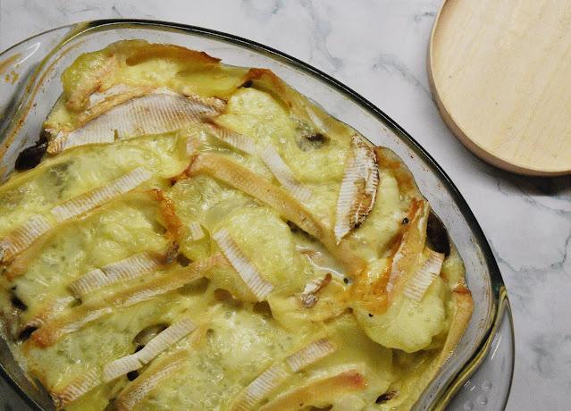 Gratin pommes de terre champignons Mont d'Or