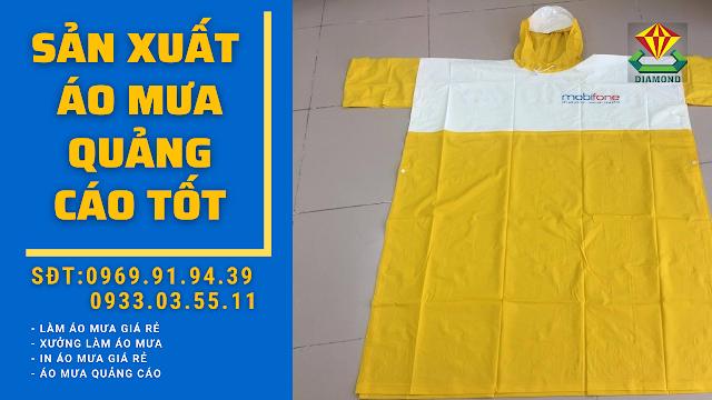 Công ty sản xuất áo mưa quà tặng, áo mưa quảng cáo in logo