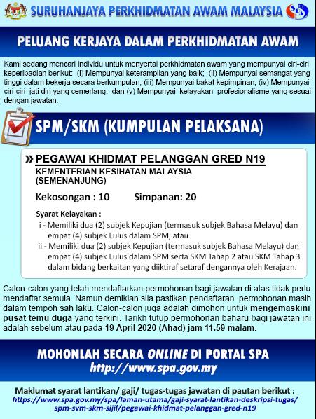 Kekosongan Terkini Jawatan Di Kementerian Kesihatan Malaysia Kkm Pengambilan Seluruh Negara Semakjawatan Com Jawatan Kosong Terkini