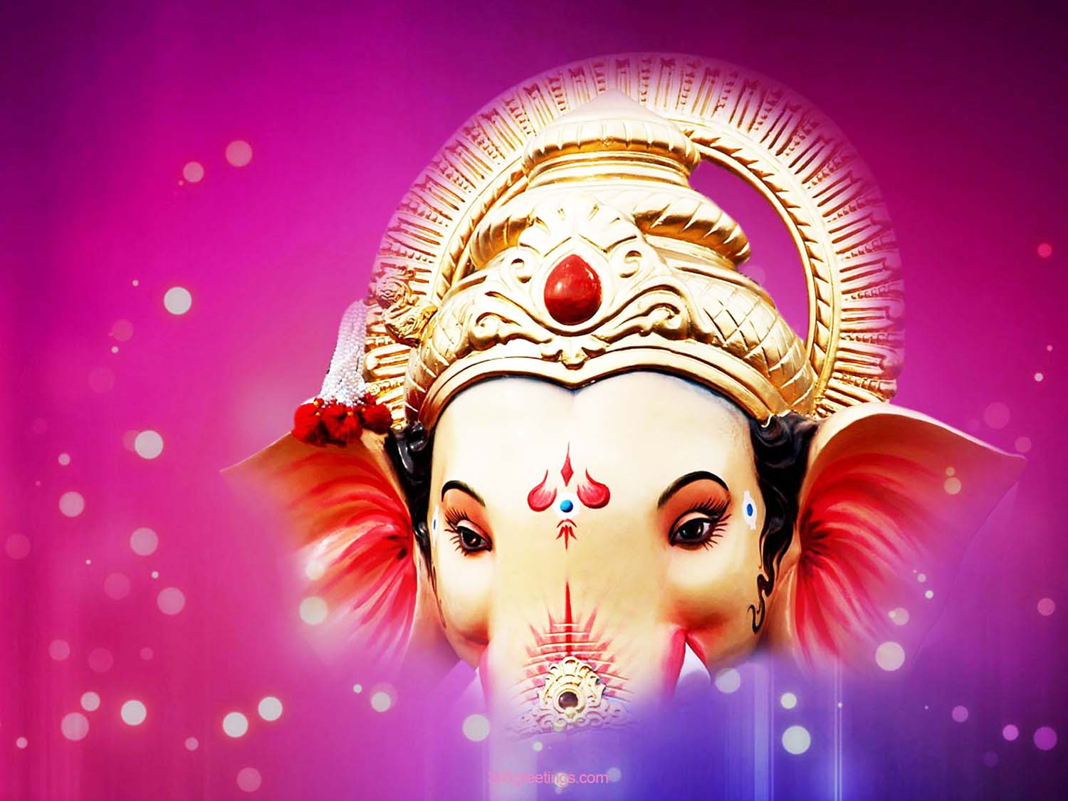 Beautiful Lord Vinayaka face photo only