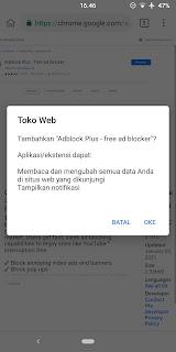 cara install ekstensi di android