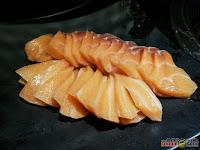 salmon sashimi, Geonbae Modern Korean Bar & Grill, Unlimited Samgyupsal, Sashimi and More