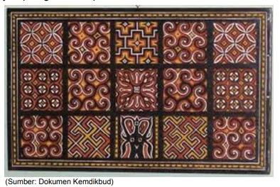 contoh motif geometris