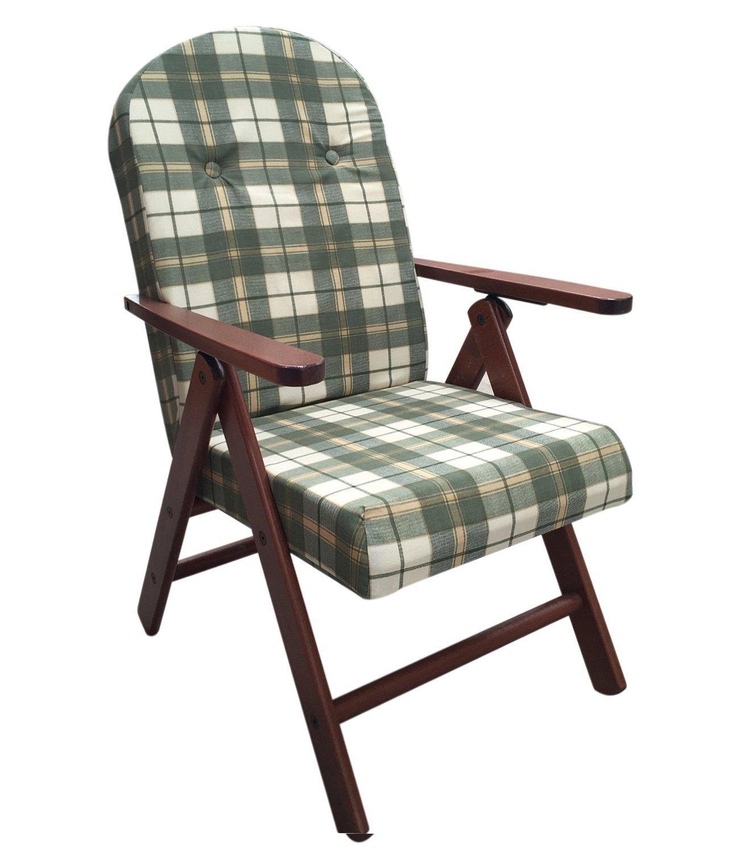 Sedia a sdraio in legno pieghevole