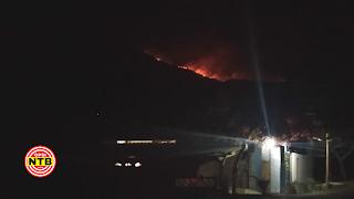 Kawasan Rinjani Kembali Terbakar, Api Menyebar Hingga Malam Hari