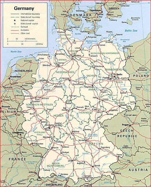 image: Germany Political Map