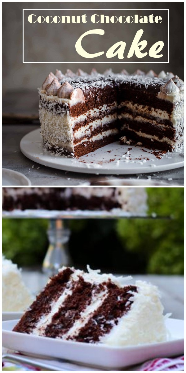 Coconut Chocolate Cake #cakerecipes