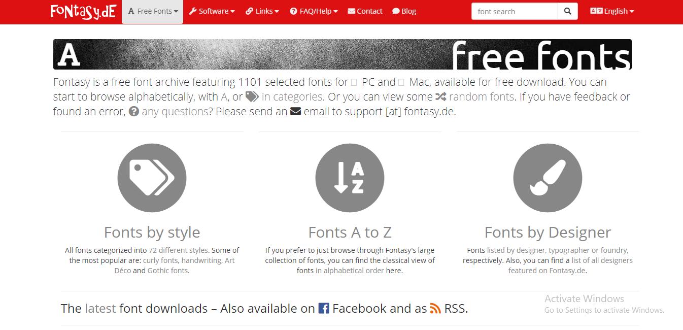 fontasy-best font websites