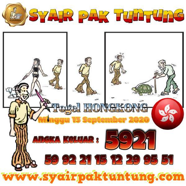 Syair HK Minggu 13 September 2020 -