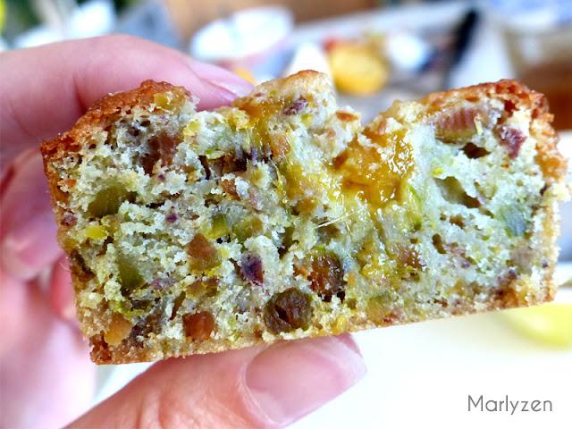 Moelleux à la pistache et à la mangue