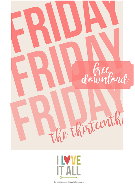 #Friday the Thirteenth #Friday the 13th #free printable #priintable #journaling card #journal cards
