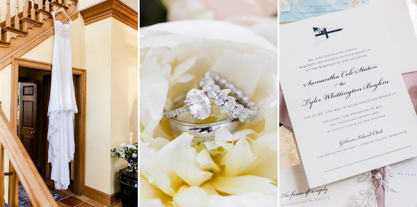 Summer Waterfront Wedding at The Gibson Island Club photographed by Maryland photographer Heather Ryan