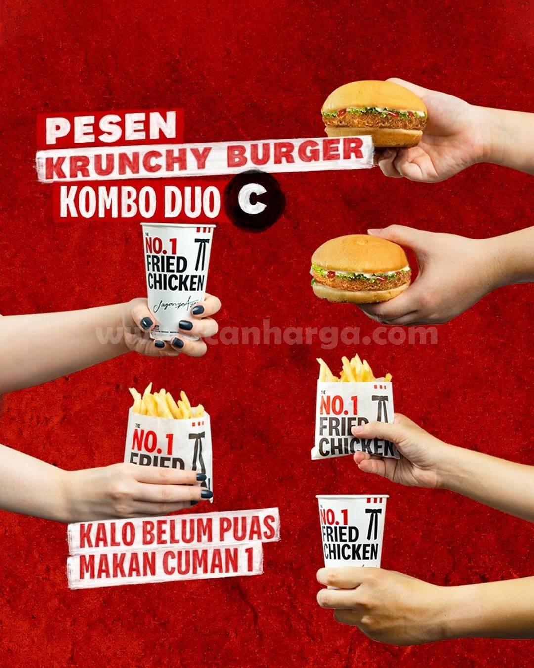 KFC Krunchy Burger Kombo Duo Harga cuma Cuma 50 Ribuan Aja