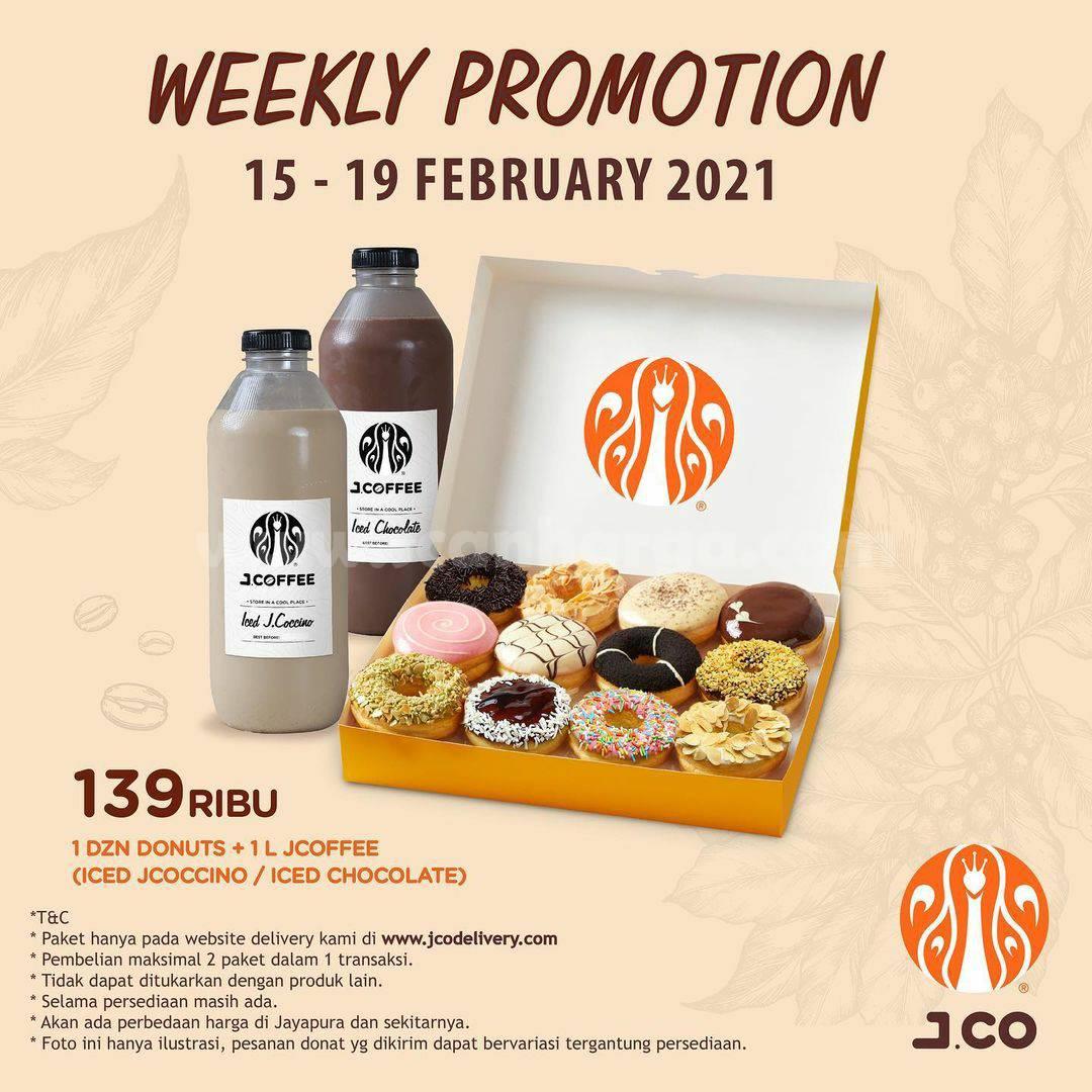 JCO Weekly Promotion – Promo 1 lusin donut + 1 L JCOFFEE cuma 139RIBU