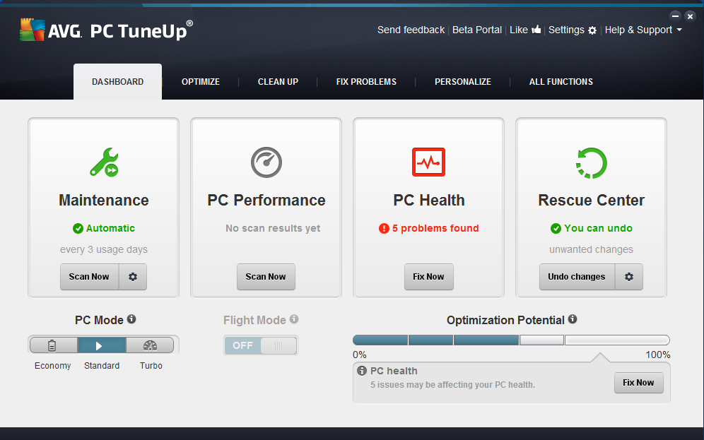 avg pc tuneup 2014 update
