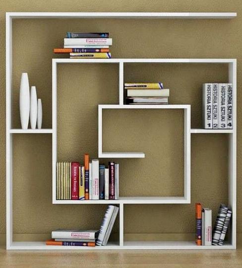 Kumpulan Gambar Rak Buku Dinding Minimalis Kreatif Dan Modern - Rak Buku Minimalis Model Gantung