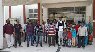वाल्मिकी संगठन ने कलेक्टर को ज्ञापन सौंप कहा, अपात्रो को न दी जाये नौकरीयो मे भर्ती