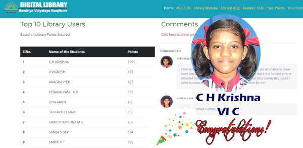 Winner of Librarian's Prize for Crossing 1000 Points on Digital Library Portal