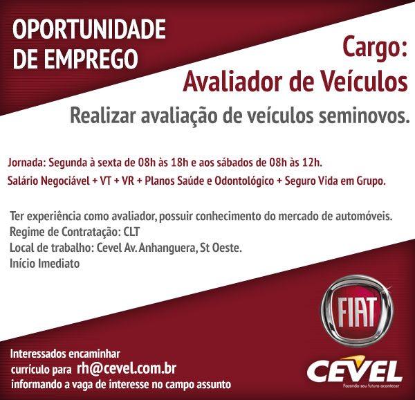 Oportunidades S A  AVALIADOR DE VEÍCULOS - GOIÂNIA GO 33c09143741