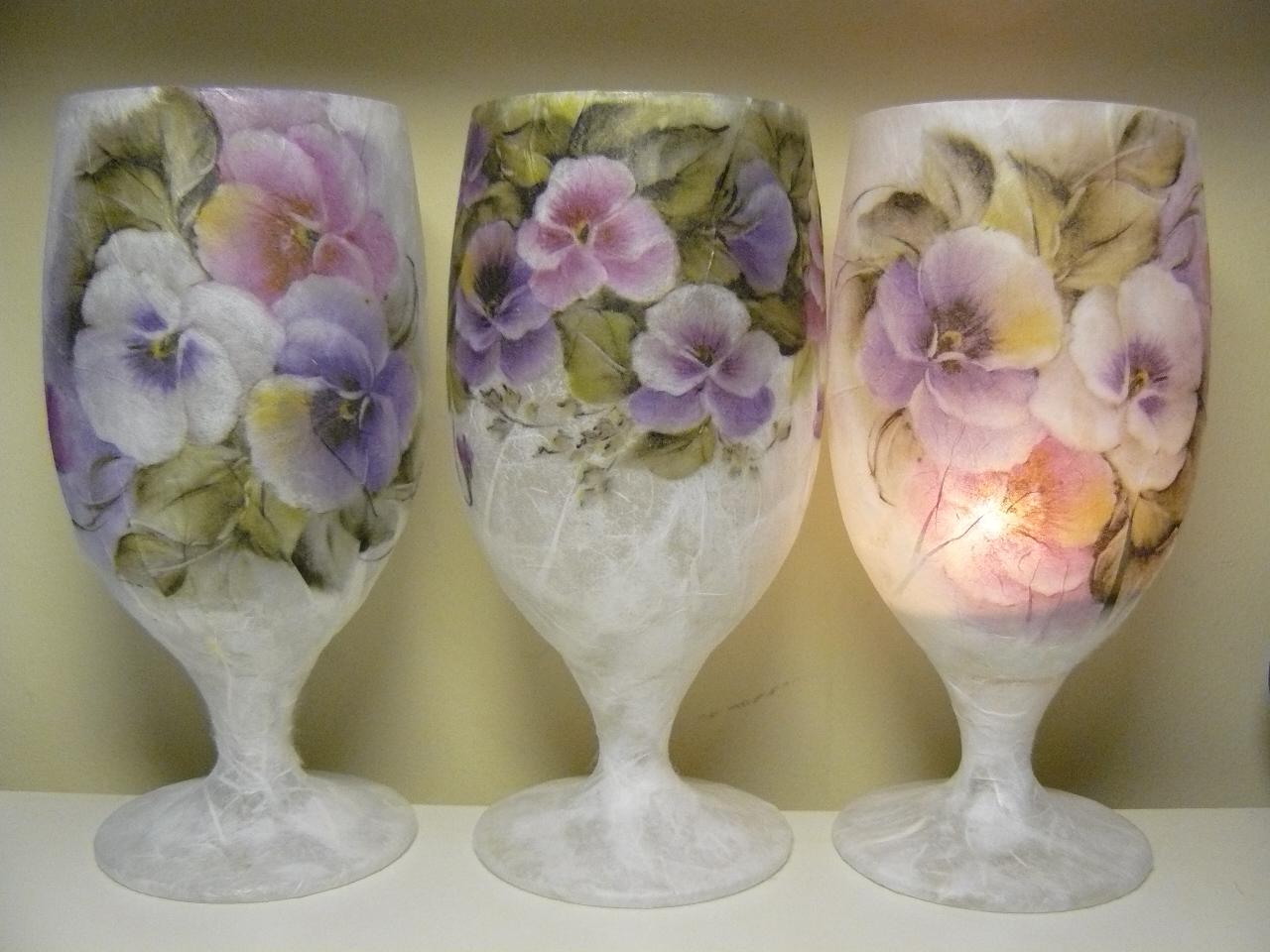marta lapkowska decoupage glasses kieliszki decoupage