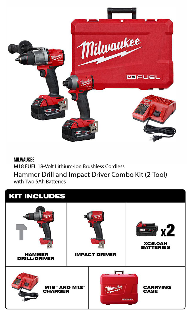 hammer drill and impact by milwaukee