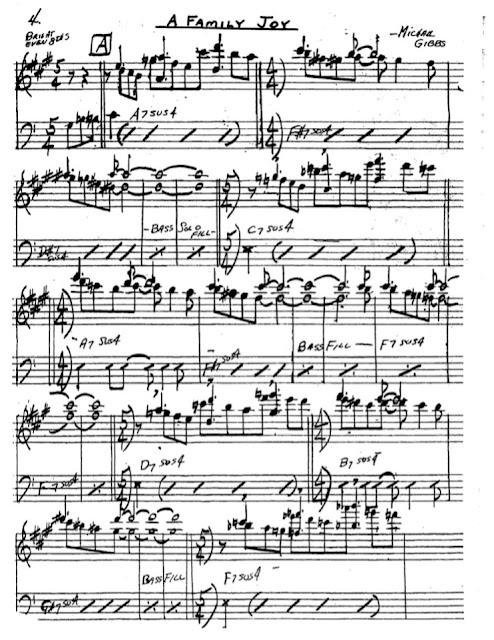 Partitura Saxofón Michael Gibbs