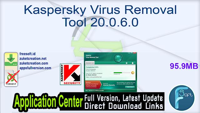 Kaspersky Virus Removal Tool 20.0.6.0