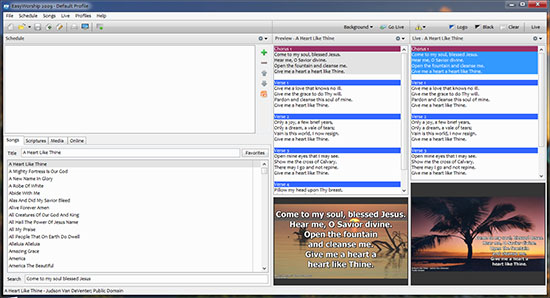 Screenshot Easy Worship 2009 Build 2.4