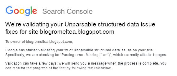 Error Unparsable Structured Data