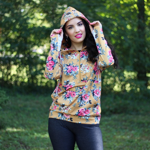 1600818906927%2B%25281%2529 Shewin Wholesale Womens Clothing Floral Print Hoodie